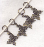 Butterfly Knitting  Stitch Markers Lace Butterflies Flutterbys Knit Set of 4 /SM58C