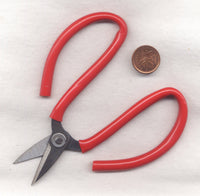 Utility Scissors Sturdy Metal With Red Rubber Grip  1 Pair