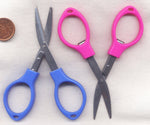 Folding Scissors BLUE Sturdy Metal Sharp  1 Pair