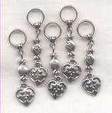 Love Candy Knitting Stitch Markers Theme Set of 5 /SM118