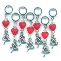 Valentine Knitting Stitch Markers Lace or Socks Set of 7/SM11