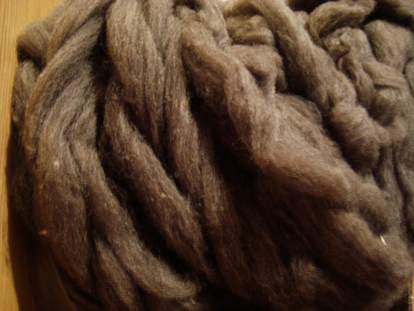 Merino Wool Alpaca Fiber Soft Brown Spinning Fiber 4 ounces