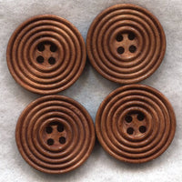 Milk Chocolate Brown Wood Buttons Wooden Buttons 23mm (1 inch) Set of 8 /BT204
