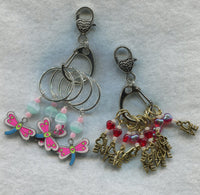 Stitch Marker Holder Keeper With Claw Clasp REGULAR Clip Each