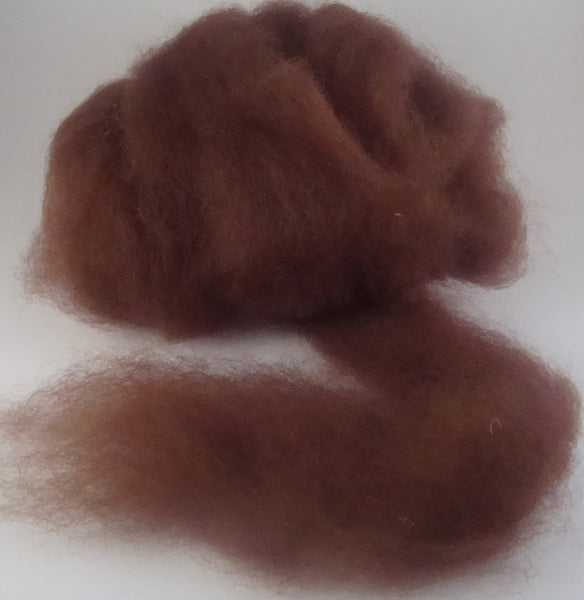 Rust Alpaca Fiber Natural Red Brown Canadian Alpaca Spinning Fiber 4 ounces