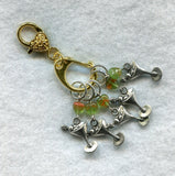 Stitch Marker Holder Keeper With Claw Clasp SMALL Gold Clip Each