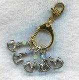 Stitch Marker Holder Keeper With Claw Clasp REGULAR Clip Gold Each