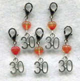 Stitch Count Stitch Markers  30 Count Set of 5 /SM132