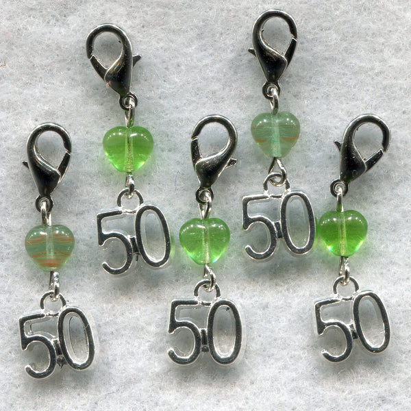Stitch Count Stitch Markers LACE Socks 50 Count Set of 5 /SM139