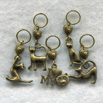 Cat Knitting Stitch Markers Paw Print Kitten Kitty Love My Cat Cats Set of 5/SM129A