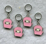 Sheep Knitting Stitch Markers Ram Lamb Ewe Pink  Set of 4/SM48A