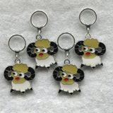 Sheep Knitting Stitch Markers Year of the Sheep Goat Merino Enameled Set of 4/SM48B