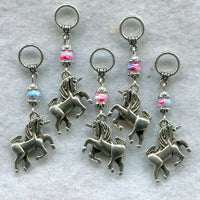 Unicorn Knitting Stitch Markers Mythical Magical Creatures Set of 5 /SM29