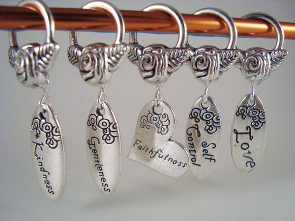 Virtues Knitting Stitch Markers Prayer Shawl Partner Faith Set of 5/SM153