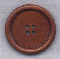 Brown Wood Buttons Wooden  40mm (1 5/8 inch) Set of 4/BT515
