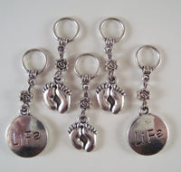 New Baby Knitting Stitch Markers Baby Knits Pro Life Set of 5/SM209