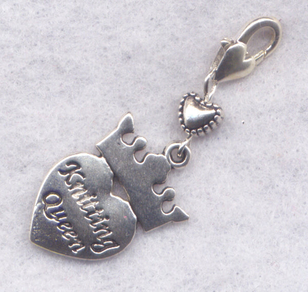 Knitting Heart Stitch Marker Clip Love to Knit Heart Single /SM221B