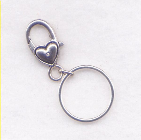 Clip Stitch Marker Holder Progress KeeperHolder  With Solid Ring