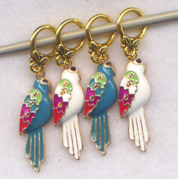 Parrot Knitting Stitch Markers Cockatoo Cockatiel Parrots Budgies Set of 4 /SM35