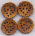Lace Heart Wood Buttons Chocolate Brown Hearts Wooden 24mm (1 inch) Set of 8 /BT193C