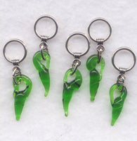 Jalapeno Peppers Knitting Stitch Markers Some Like It Hot  Peppers Set of 5/SM135B