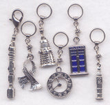 Dr Who Knitting Stitch Markers Time Lord Tardis Whovian Dalek Sonic Screwdriver Set of 6/SM235