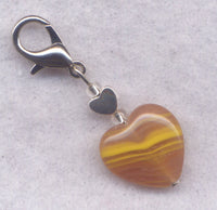 Toffee Heart Stitch Marker Clip Caramel Chewy Goodness Single /SM216G