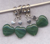 Emerald Heart Stitch Marker Clip Emerald Isle Heart Single /SM216C