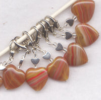 Toffee Apple Heart Prigress Keeper Clip Caramel Heart Single /SM216J