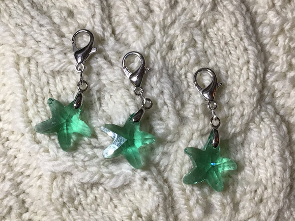 Radiant Crystal Teal Starfish Progress Keeper Clips each /SM389