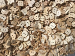 Unfinished Wood Shape Assortment Buttons BK04
