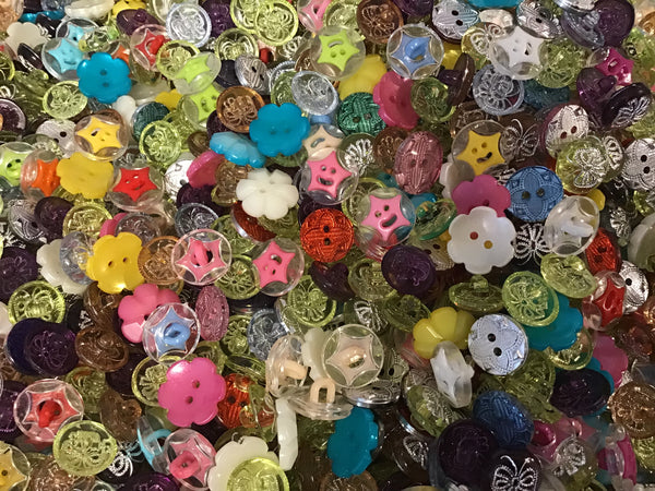 Fancy Multi Color Small Acrylic Buttons BK02