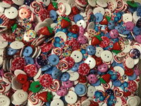Heart and Fruit Mix Assortment Acrylic Buttons BK17