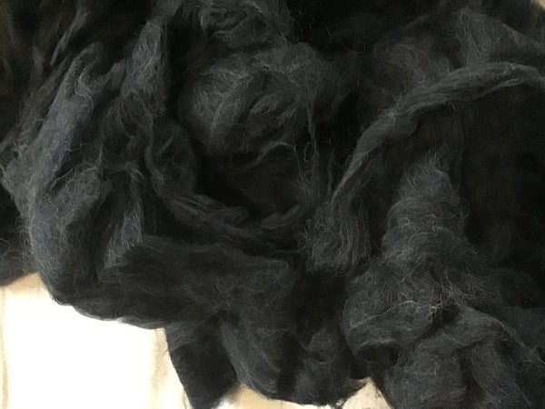Superwash BFL Wool Ashes Black 4 ounces B009