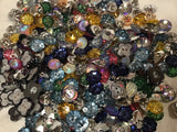 Glitter Mix Multiple Size And Shape Acrylic Assortment Buttons BK09