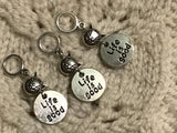Life is Good Knitting Stitch Markers Love My Cat  Set of 3/SM400