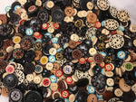 Multiple Size Round Wood Assortment Buttons BK06