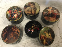 Flowers and Angels Notions Boxes classic round