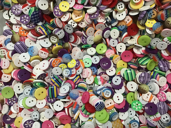 Multi Color Small Acrylic Buttons BK01