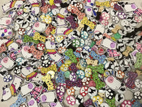 All Dogs Mix Assortment Wood Buttons BK13