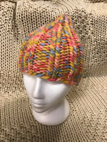 Touque Ribbed beanie Hat Hand Knit One Size confetti CT02