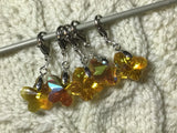Radiant Crystal Amber Butterfly Progress Keeper Clips each /SM393