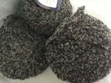 Alpaca Boucle yarn Marble Chocolate blend 3 balls 150gm total