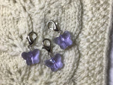 Radiant Crystal Purple Butterfly Progress Keeper clip each/SM382