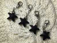 Radiant Crystal Black Starfish Progress Keeper Clips each /SM394