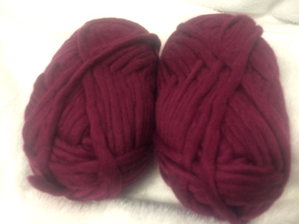 Bulky Knit 100% Wool Yarn colorway Magnificent Magenta 100 gm Ball BK03