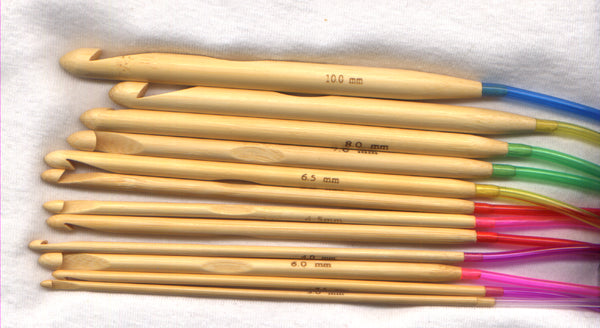 Tunisian Crochet Hook Set 18 inch extension Set of 12 Hooks