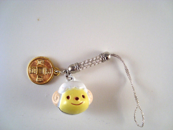 Year of the Sheep 2015 Cellphone Charm CH065 Ram, Sheep, Goat Chinese New Year lucky coin Chibi Chinese Zodiac