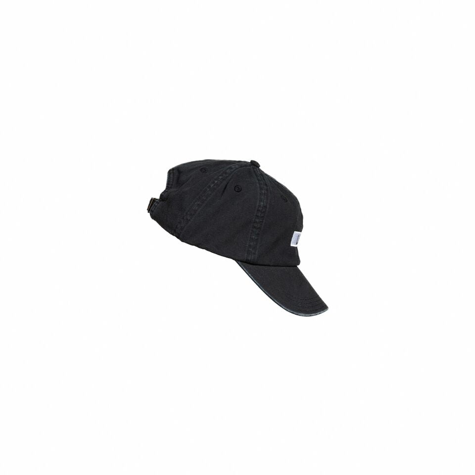 Side view of a black hat