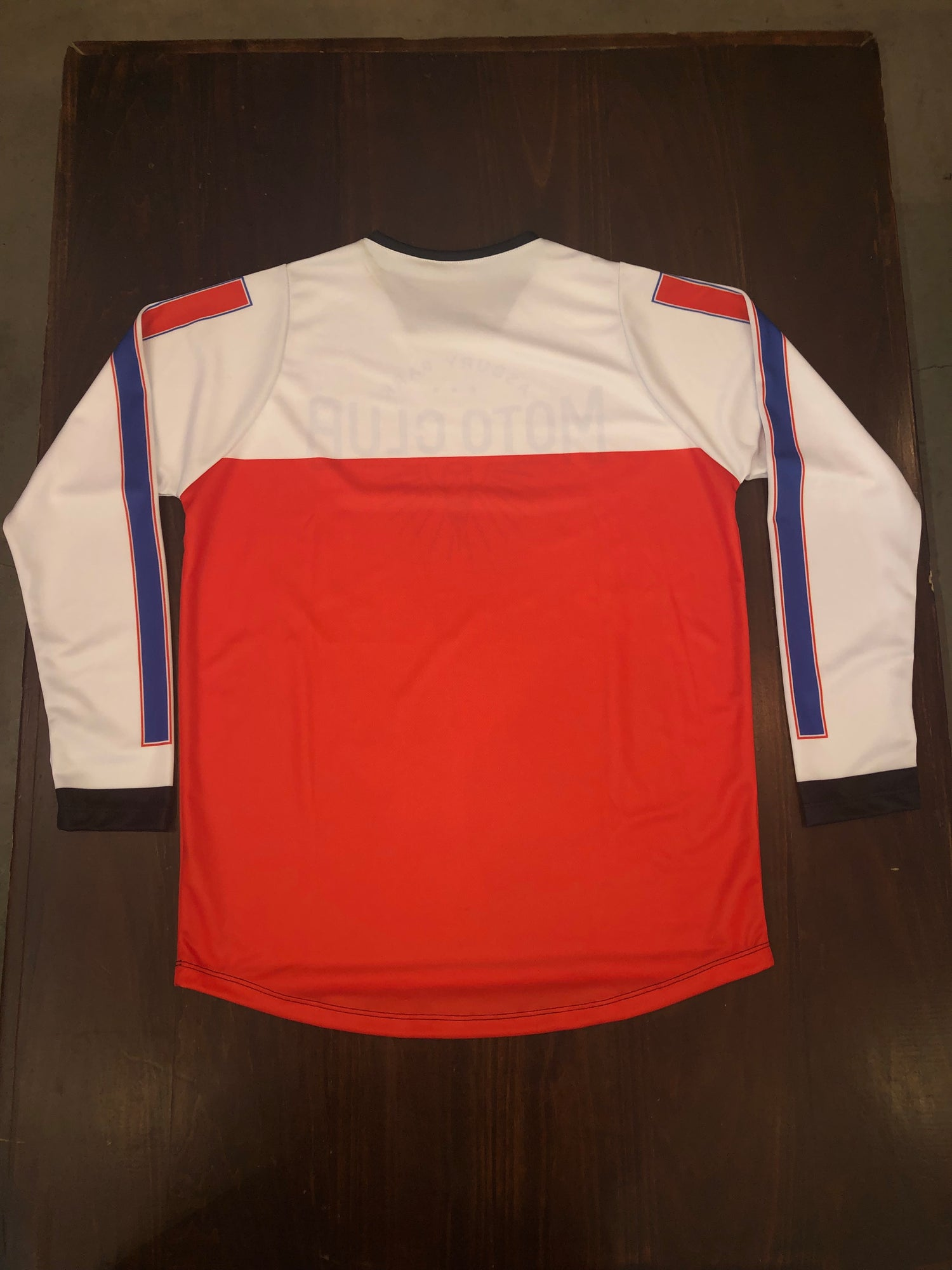 Mx Red/White Moto Club jersey
